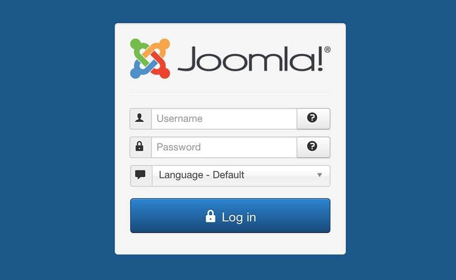 Hướng dẫn sử dụng Joomla cơ bản từ cửa sổ đăng nhập