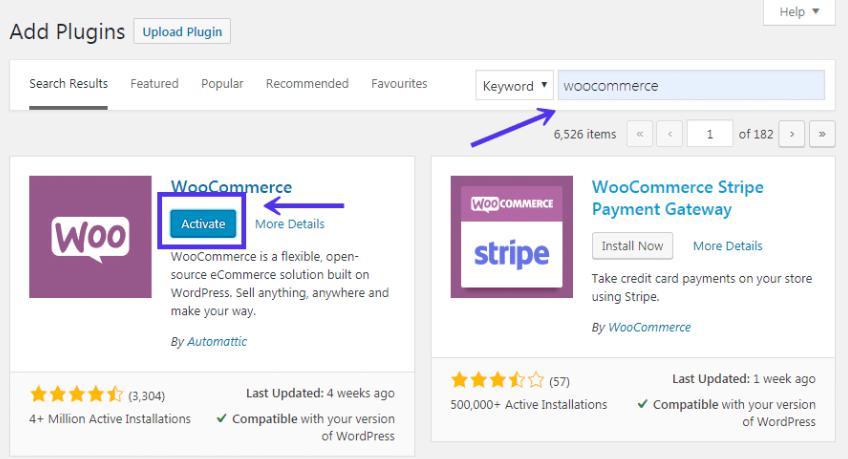 Hướng dẫn cài đặt và kích hoạt WooCommerce