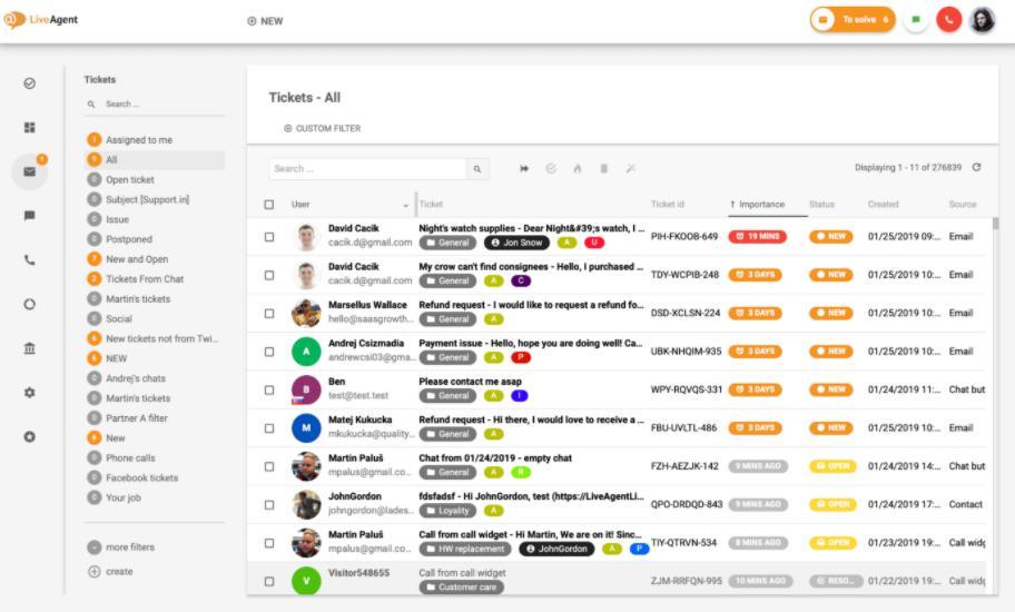 Phần mềm live chat miễn phí Live Agent