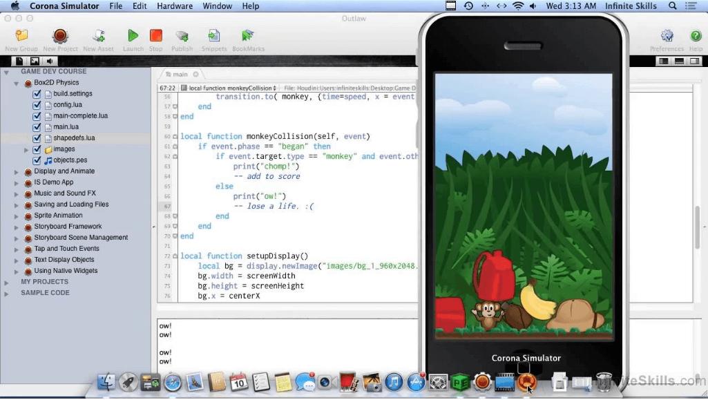 framework là gì? phát triển app mobile bằng corona simulator