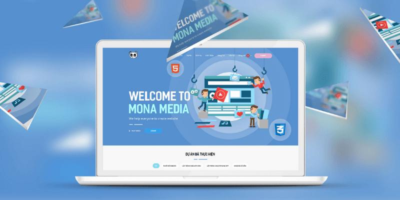 công ty thiết kế website nhập hàng Mona Media